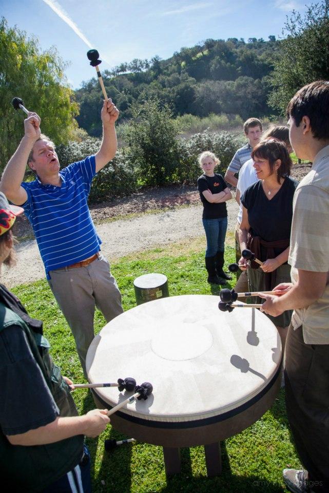 Jim Billington at Hidden Wings with Debra Muzikar and Kevin Hosseini and the Heart Drum