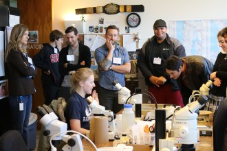 Social Stories Spectrum Project participants get a behind the scenes peak of the entomology lab at theNAT.