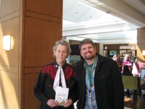 Temple Grandin and Ron Sandison