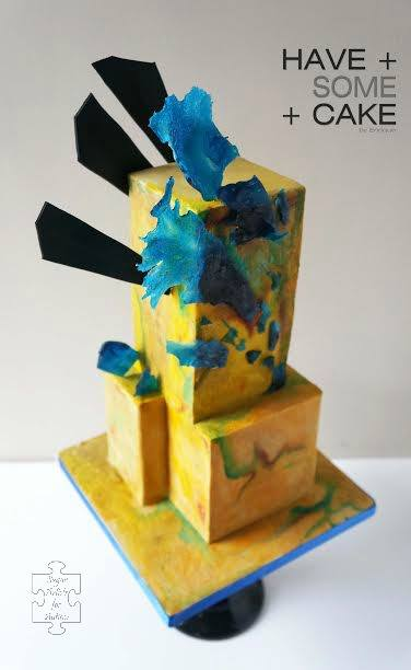 Cake inspired by Kimberly Gerry Tucker's art