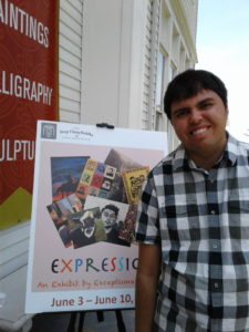 Kevin Hosseini with poster