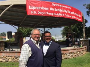 Covina Councilman John King and Mayor Marquez