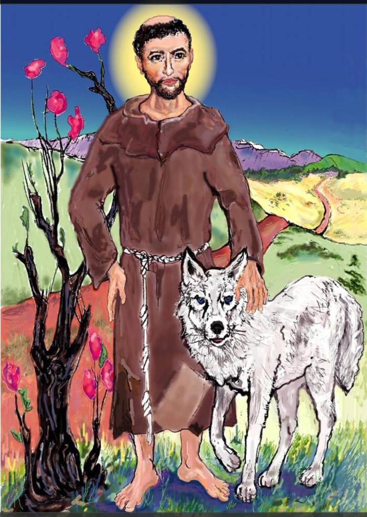 "Anastasia O'Melveny ""St. Francis and the Wolf"""