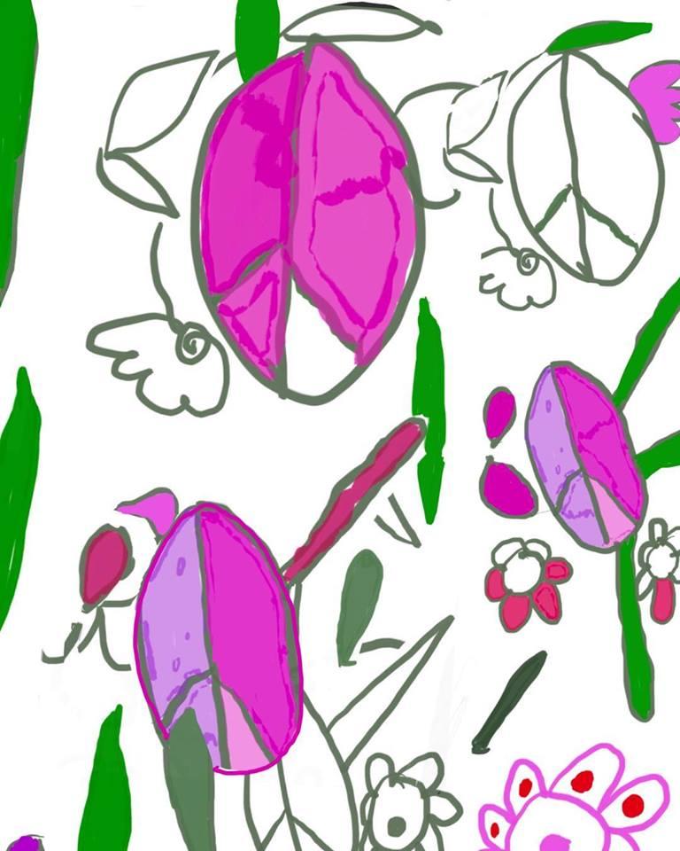 "Caraline Murphy ""Peace & Flowers"""