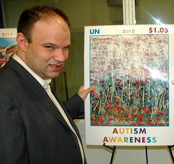 Trent Altman Autism Awareness Stamp