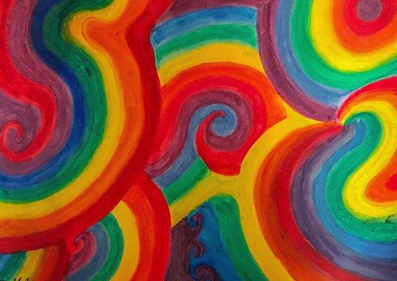 Max LaZebnik Swriling Colors