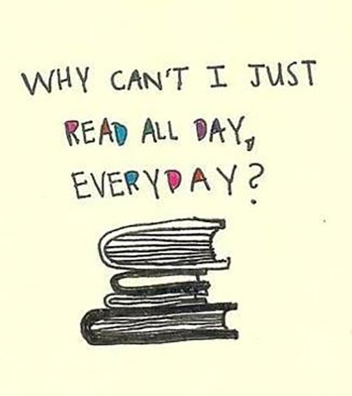 Why cant I read all the time