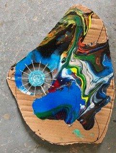 Art by JC, Blue Mandala