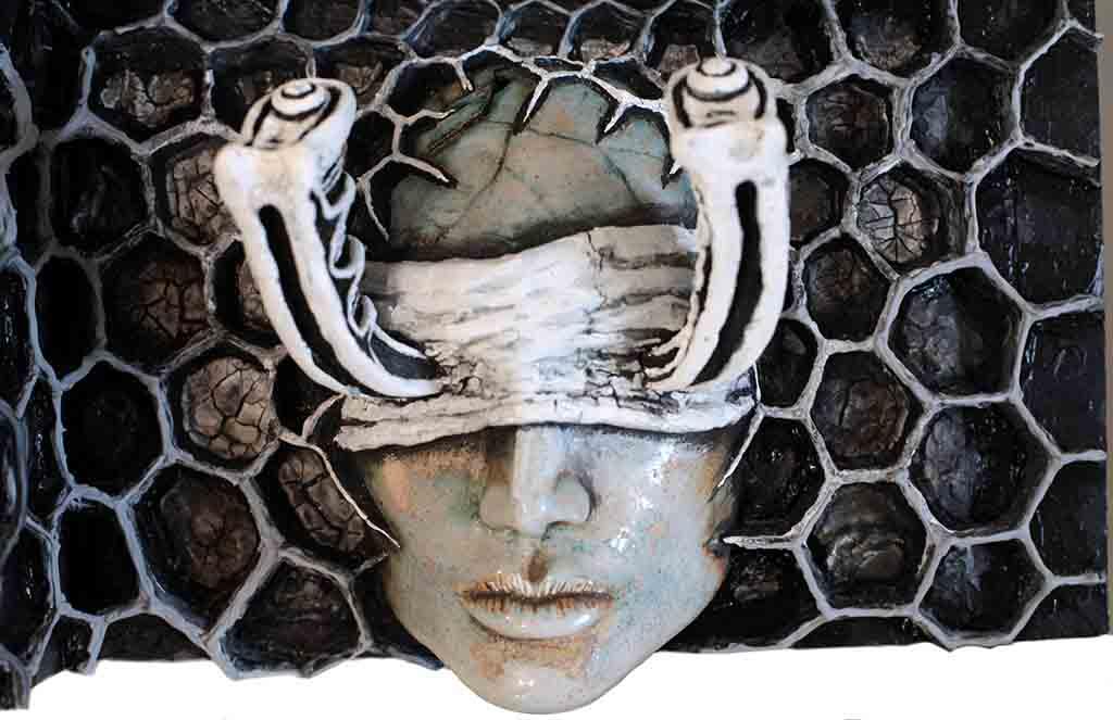 Ryan Smoluk Flying Blind Sculpture Detail