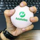 White Squishy AutoHotkeyStress Ball