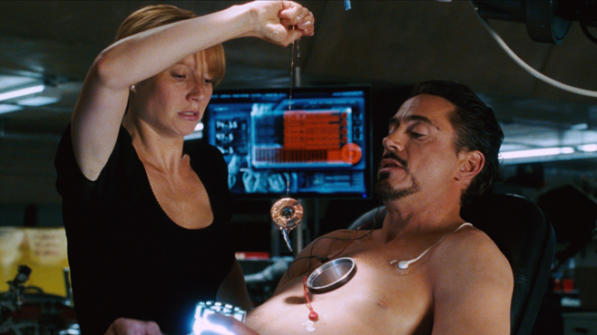 iron man 2008 pepper and tony