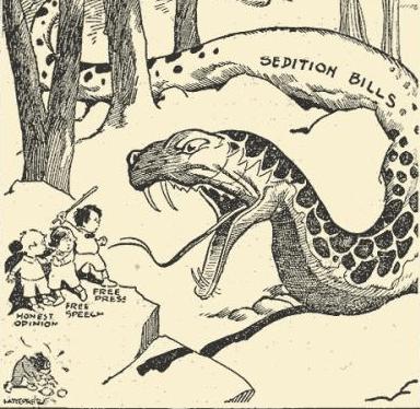 Sedition Cartoon