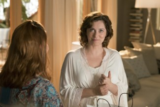 "Crazy Ex Girlfriend -- ""Can Josh Take A Leap of Faith?"" -- Image Number: CEG213a_089b -- Pictured (L-R): Donna Lynne Champlin as Paula and Rachel Bloom as Rebecca -- Photo: Michael Desmond/The CW -- ©2016 The CW Network, LLC All Rights Reserved."