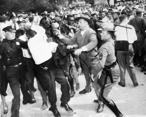 Police Attacking African American Man