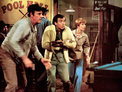 THE CAT FROM OUTER SPACE, from left: McLean Stevenson, Ken Berry, Sandy Duncan, 1978, © Buena Vista