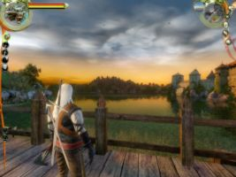 297116-the-witcher-windows-screenshot-overlooking-the-docks-at-sunset