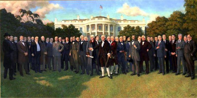 Presidents-mural