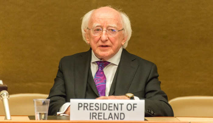 Ireland's president reminds people they have 'a duty' to 'create a place of welcome' for refugees