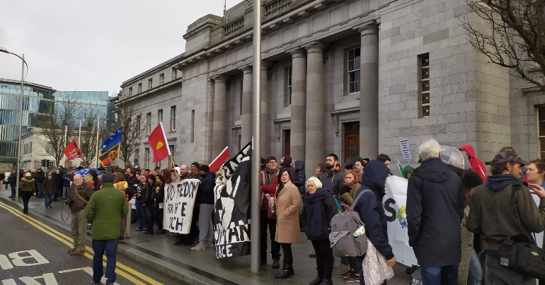 Rebel Rally for Peace draws around 250 people outside Cork City Hall to counter far-right 'free speech' protest