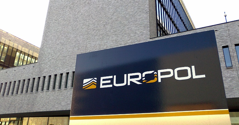 "A photo of EUROPOL HQ, the European Police Force which has warned of ""anti-immigrant""ideology and the far right in Ireland."