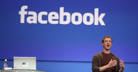 A photo of Facebook CEO Mark Zuckerberg who has just announced that his platform will now ban Holocaust denial content.