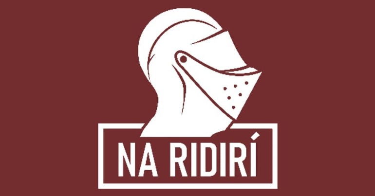 A photo of the logo of the far-right group Na Ridirí.