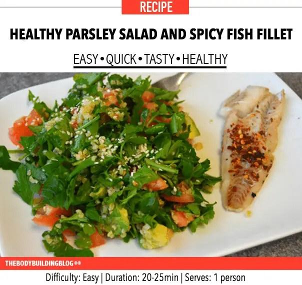 healthy-parsley-salad-spicy-fish-fillet-recipe