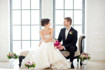 Классика в цвете фуксия: свадебная съемка Евгении и Степана
