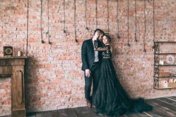 Роскошь и магия черного: стилизованная фотосессия Томы и Димы