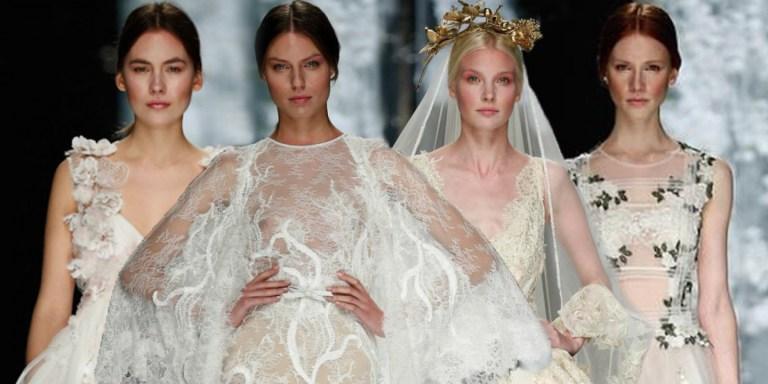 С подиума: главные тренды свадебной моды 2016