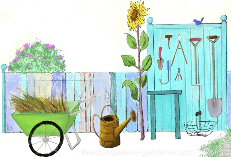 Garden Tools | digital art by lisa