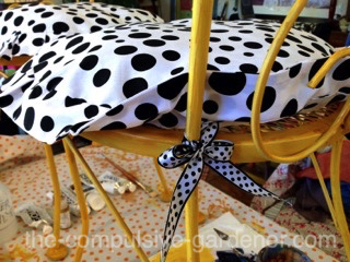 Upcycled garden chairs