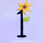 ONE -- digital number art by lisa at the-compulsive-gardener