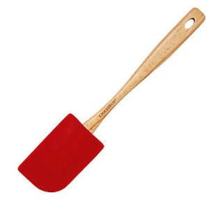 Chasseur Silicone Large Spatula with Beechwood Handle Red