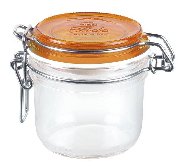 Fido Round Top Jar, 4-1/4-Ounce, Orange