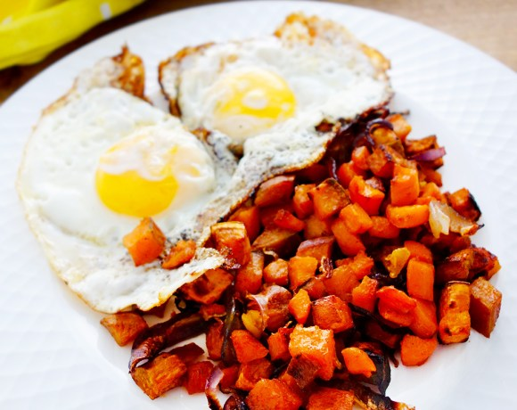 Anytime Sweet Potato, Carrot, Onion & Garlic Hash