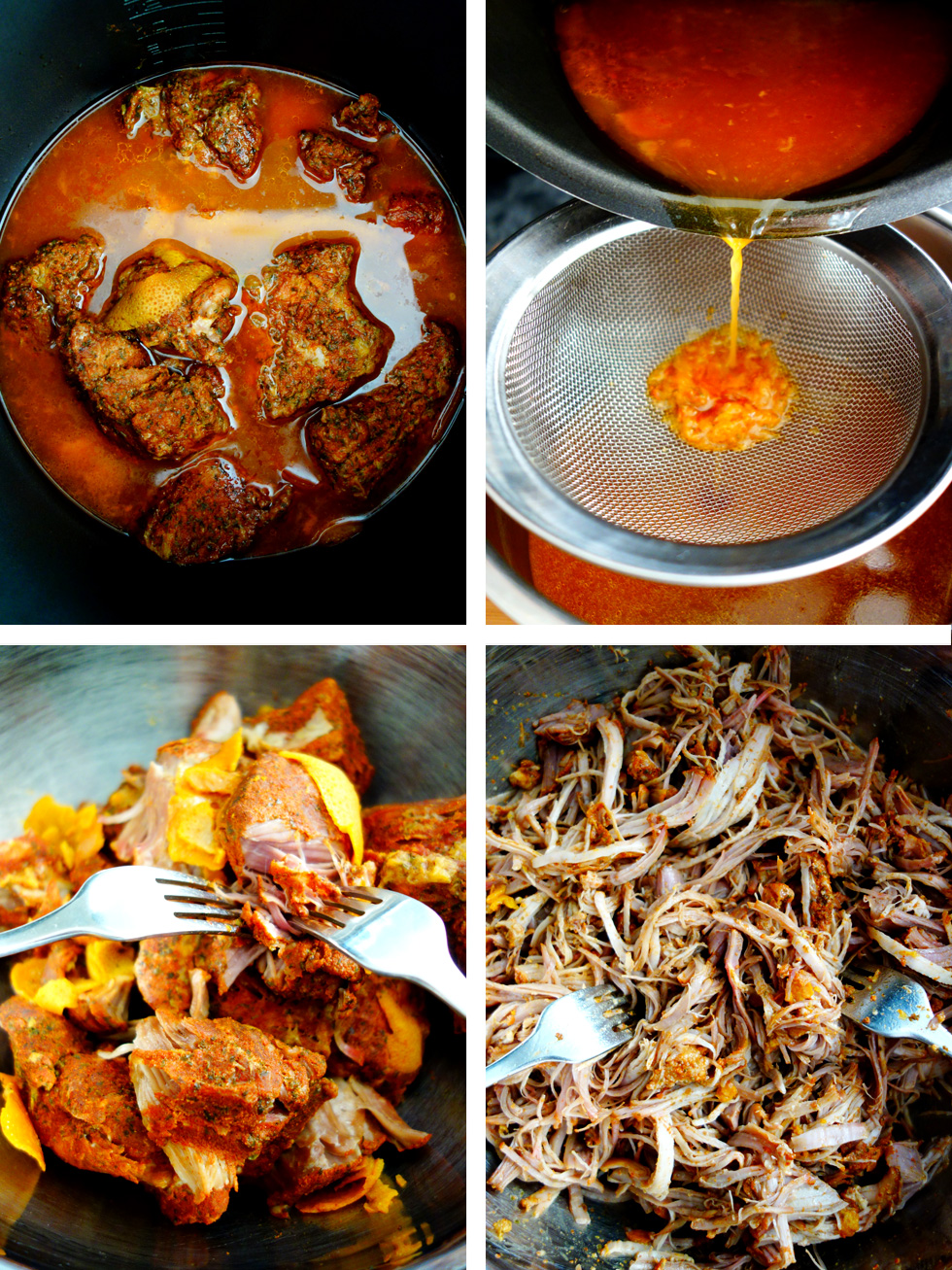 Pressure Cooked Pulled Pork with Sticky Orange BBQ Sauce Cooking Recipe Steps 3
