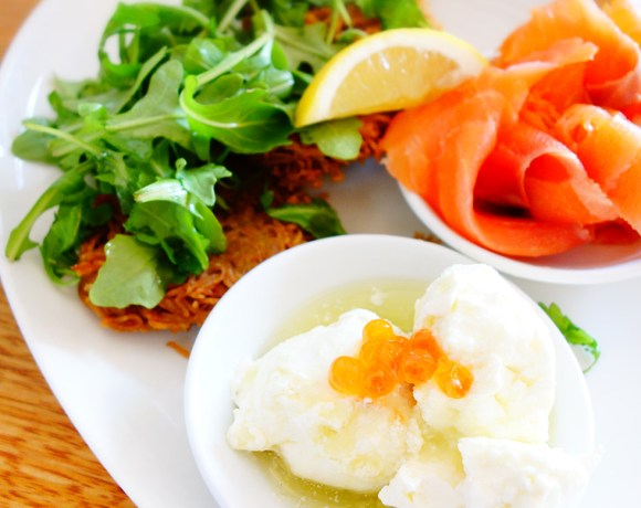 The Consumption Rockefeller Deli Review Latkes with Salmon and Labne