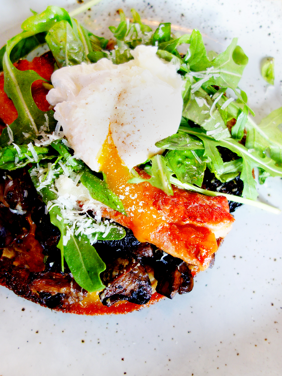 Finlay & Sons no 917 Gluten Free Polenta and Mushroom Pizza with Thick Cut Bacon
