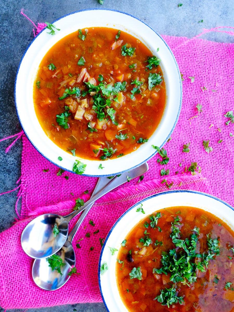 Slow Cooker Ham Hock Lentil Soup