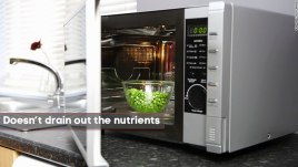 microwave oven protects nutrients