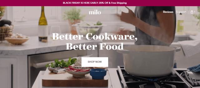 Order Milo Cookware