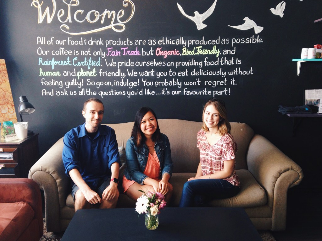 Cambio Market founders and blogger Elena from The Curious Button in Studio 89 in Mississauga | The Curious Button
