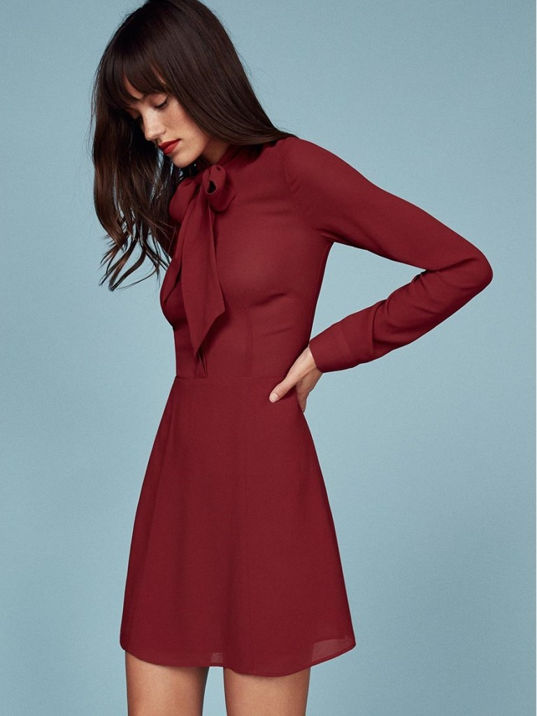 2016 Fall Basics [Ethical Edit]   The Curious Button, an ethically conscious life + style blog   Reformation Serafina Dress