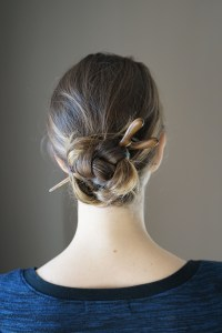 Saya Designs Pleated Bun Hairstyle | The Curious Button