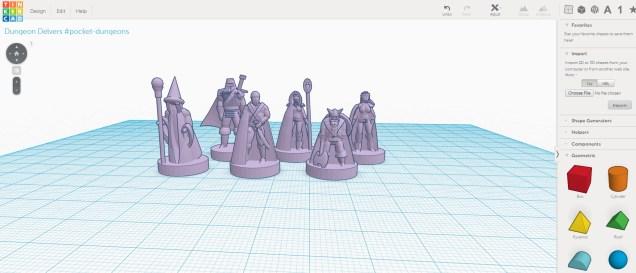 TinkerCAD miniatures