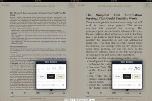 iPad screenshots Apple e-Reading Software