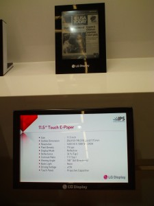 Sid Display Week: LG Display color epaper in 4 sizes Conferences & Trade shows e-Reading Hardware