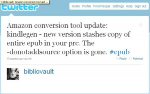Amazon planning ahead for a switch to Epub? ebook tools