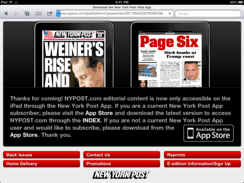 NY Post now pursuing stupidest paywall policy ever Editorials